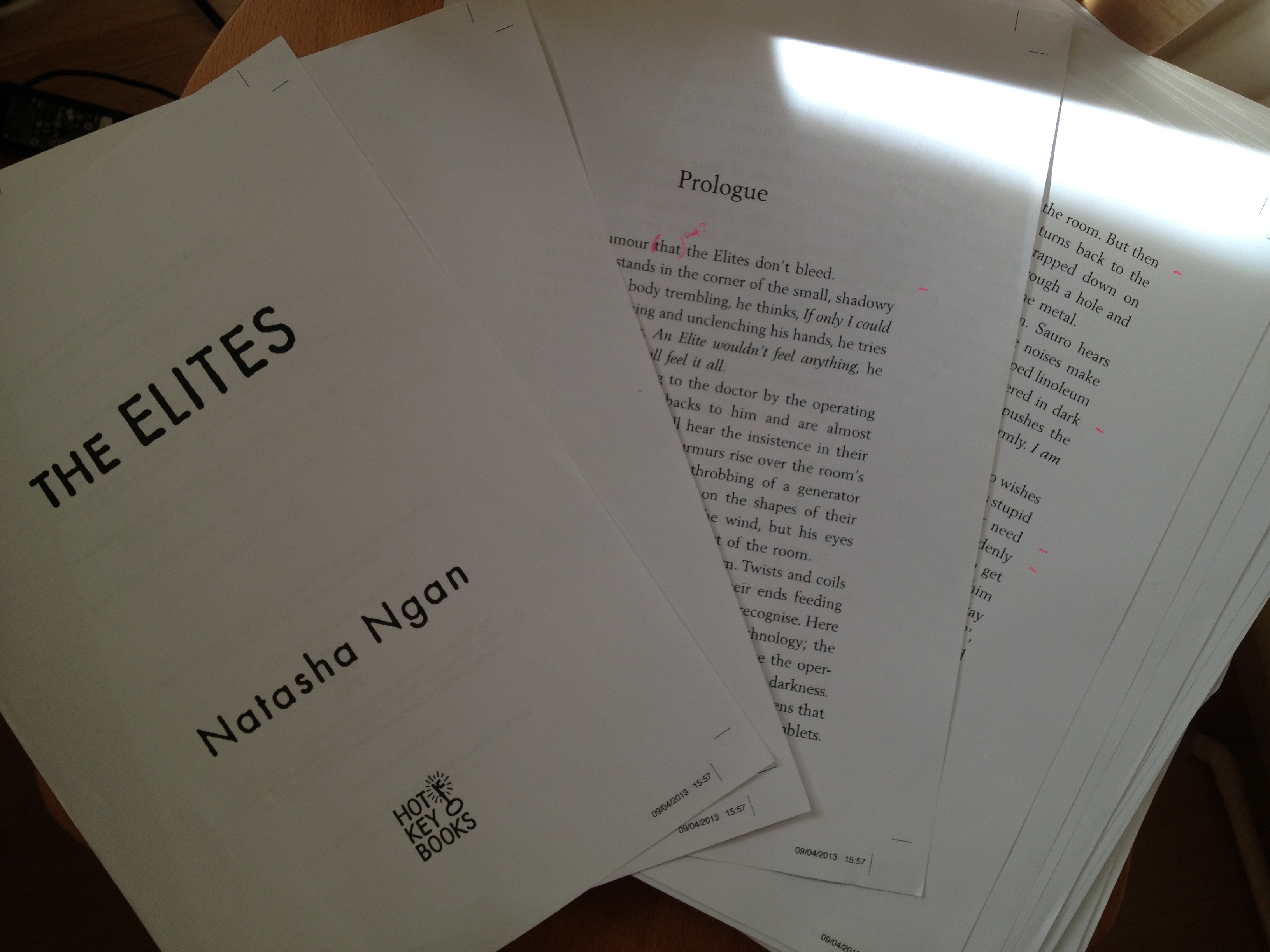 The Elites by Natasha Ngan page proofs