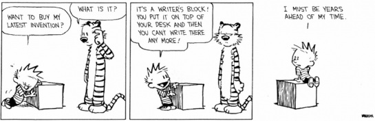 Writer's block cartoon