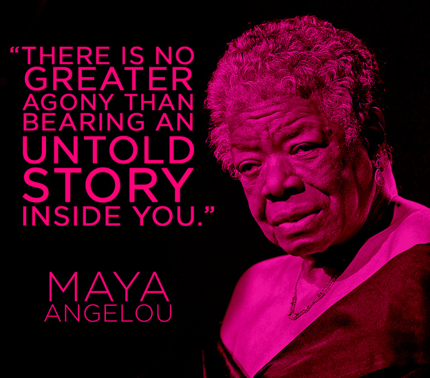 Maya Angelou writing quote