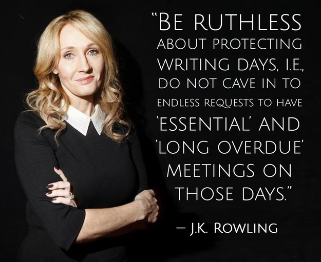 J K Rowling writing quote