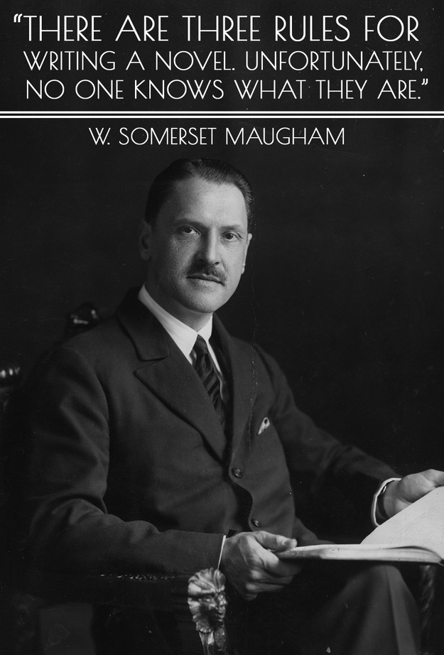 Rules of writing quote Somerset Maugham